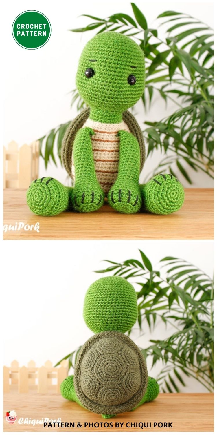 Willy the Turtle - 12 Fun & Awesome Amigurumi Turtle Crochet Patterns