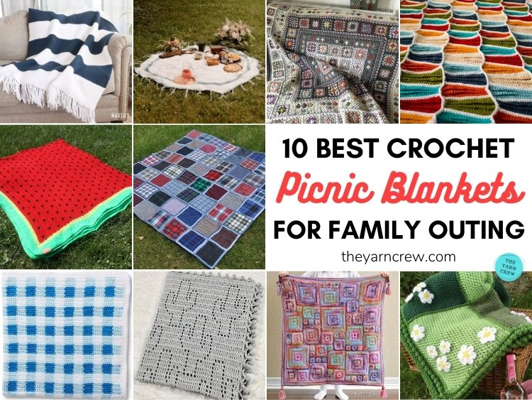 10 Best Crochet Picnic Blanket Patterns For Family Outing FB POSTER