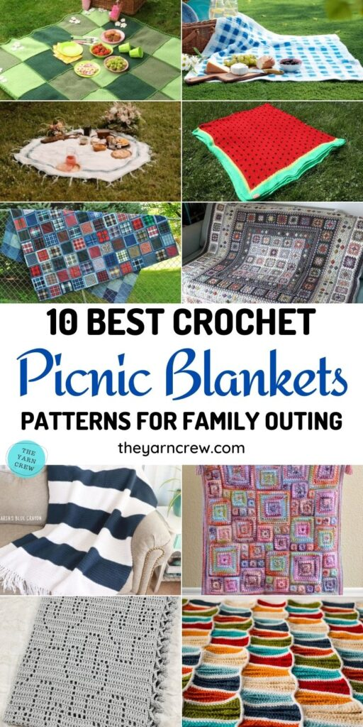 10 Best Crochet Picnic Blanket Patterns For Family Outing PIN 1