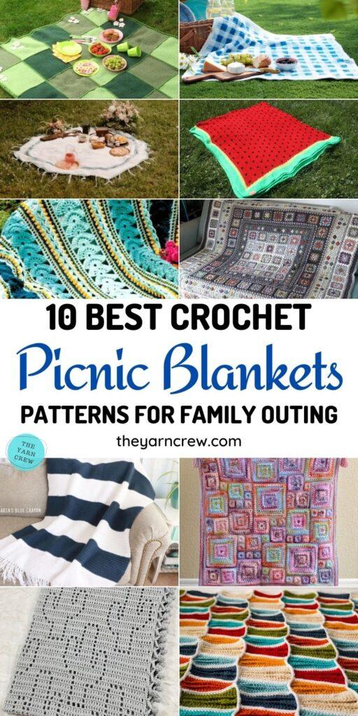 10 Best Crochet Picnic Blanket Patterns For Family Outing PINTEREST 1