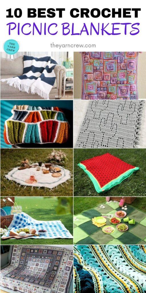 10 Best Crochet Picnic Blankets PINTEREST 2