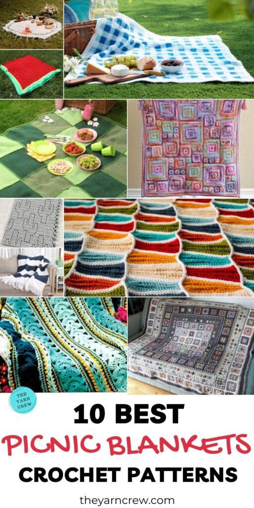 10 Best Picnic Blanket Crochet Patterns PINTEREST 3