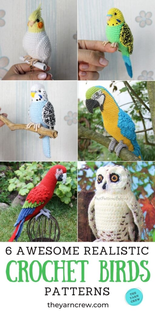 6 Awesome Realistic Crochet Bird Patterns PIN 3