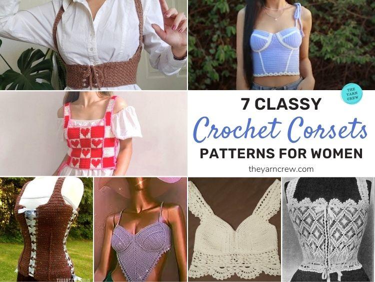 7 Classy Crochet Corset Patterns For Women FB POSTER