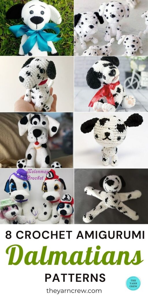 8 Crochet Amigurumi Dalmatian Patterns PIN 3
