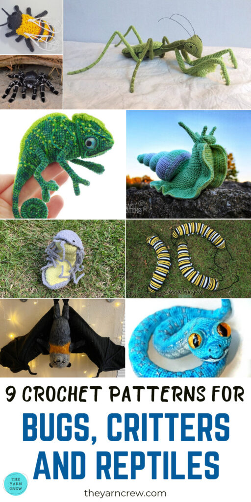 9 Crochet Patterns For Bugs, Critters And Reptiles PINTEREST 3