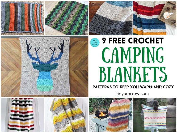 9 Free Crochet Camping Blanket Patterns To Keep You Warm And Cozy FB POSTER