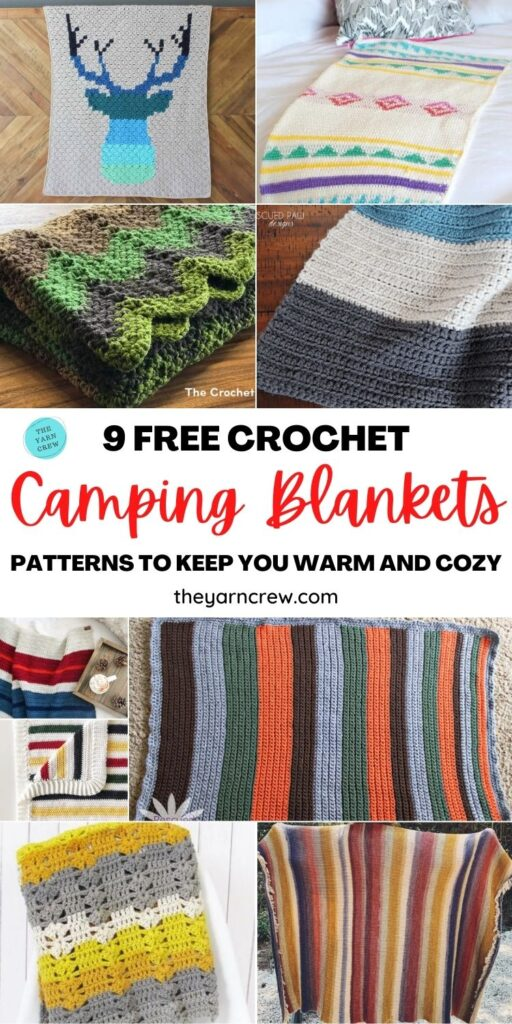 9 Free Crochet Camping Blanket Patterns To Keep You Warm And Cozy PIN 1