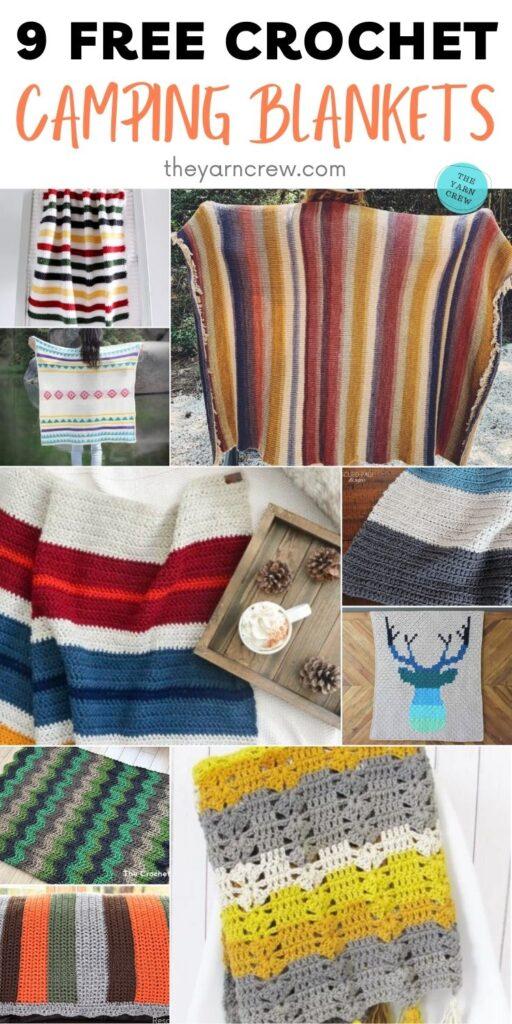 9 Free Crochet Camping Blankets PIN 2