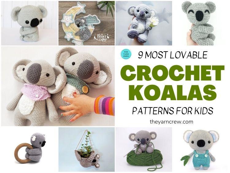 9 Most Lovable Crochet Koala Patterns For Kids FB POSTER