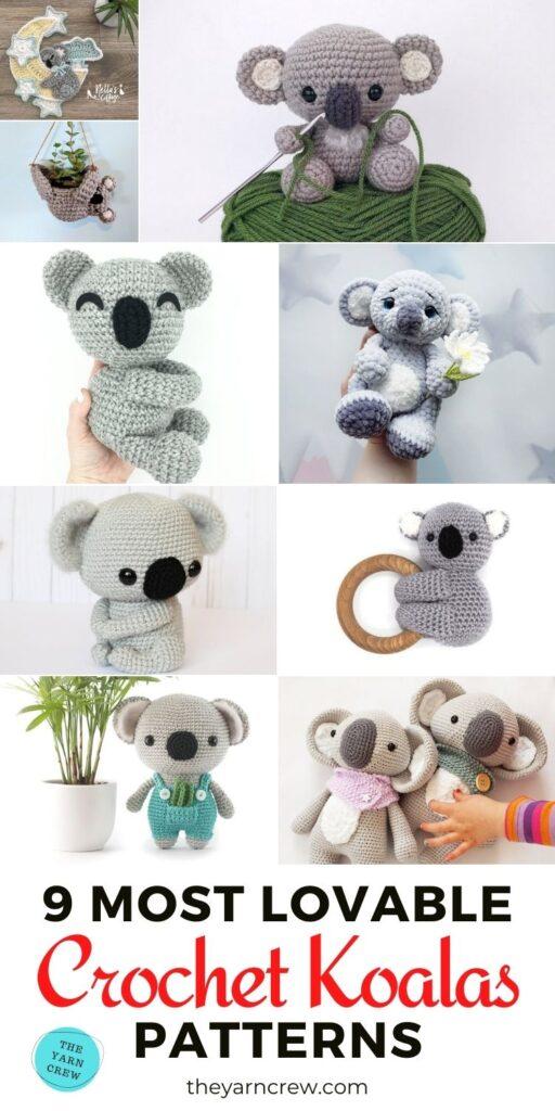 9 Most Lovable Crochet Koala Patterns PIN 3