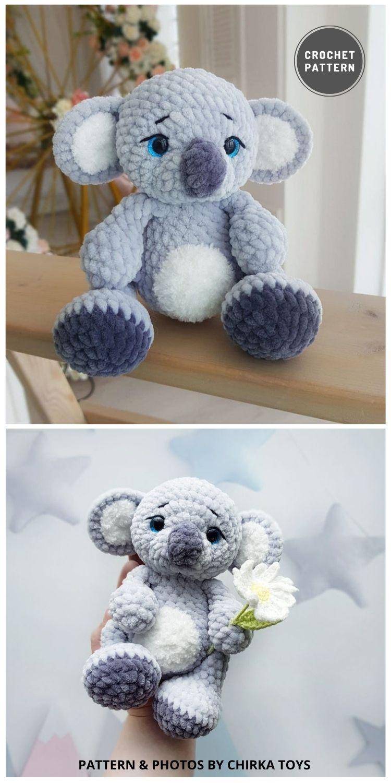 Amigurumi Koala Bear Pattern - 9 Most Lovable Crochet Koala Patterns For Kids