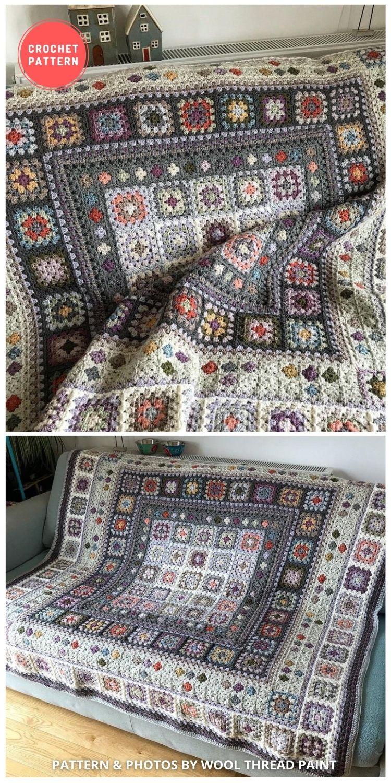 Beach Walk Blanket Crochet Pattern - 10 Best Crochet Picnic Blanket Patterns For Family Outing