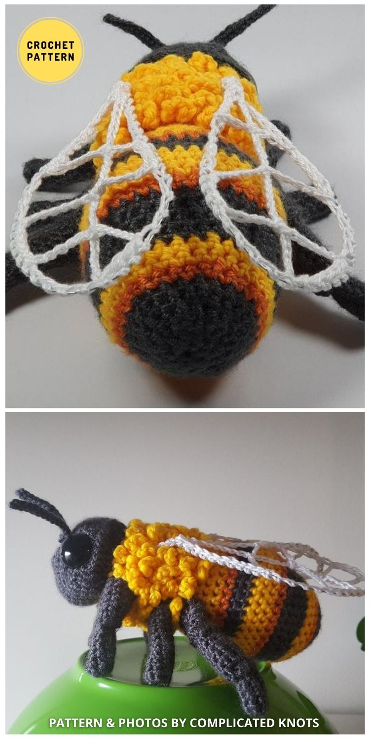 Crochet Bumblebee - 9 Incredible Realistic Crochet Bug, Critter And Reptile Patterns