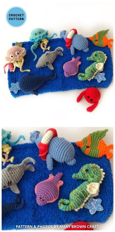 Crochet Marine Set Pattern - Top 4 Crochet Aquarium Ideas With Amigurumi Fish