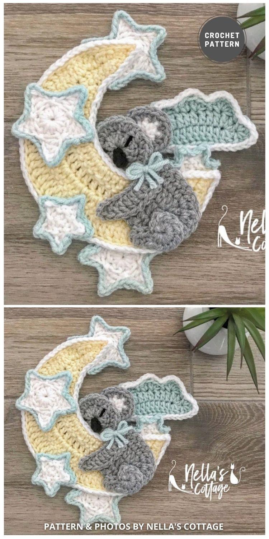 Crochet Moon and Koala - 9 Most Lovable Crochet Koala Patterns For Kids