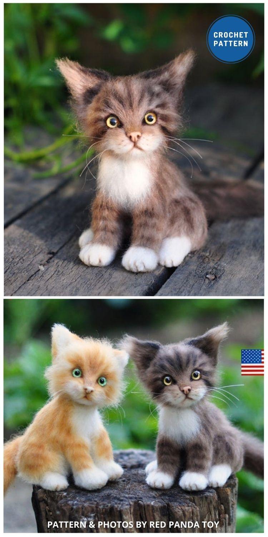 Crochet Red Tabby Cat - Top 6 Cuddly Realistic Cat Crochet Ideas