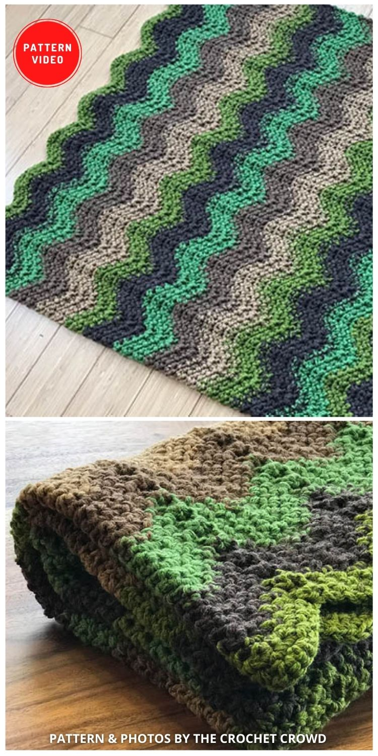 Crochet Through the Forest Afghan - 9 Free Crochet Camping Blanket Patterns To Keep You Warm And Cozy