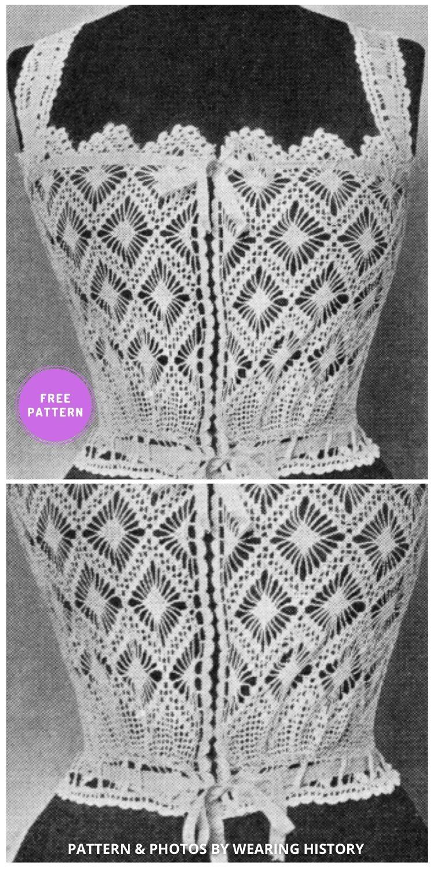 Crocheted Corset Cover - 7 Classy Crochet Corset Patterns For Women