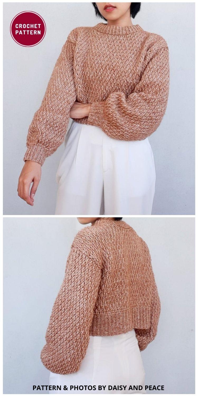 Cropped Crochet Sweater Pattern - 12 Trendy Crochet Sweater Patterns For Women Ideas