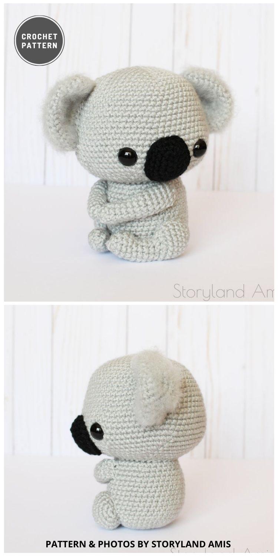 Cuddle-Sized Koala Bear Amigurumi - 9 Most Lovable Crochet Koala Patterns For Kids