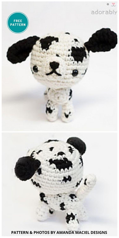 Dalmatian Dog Amigurumi - 8 Crochet Amigurumi Dalmatian Patterns For Children