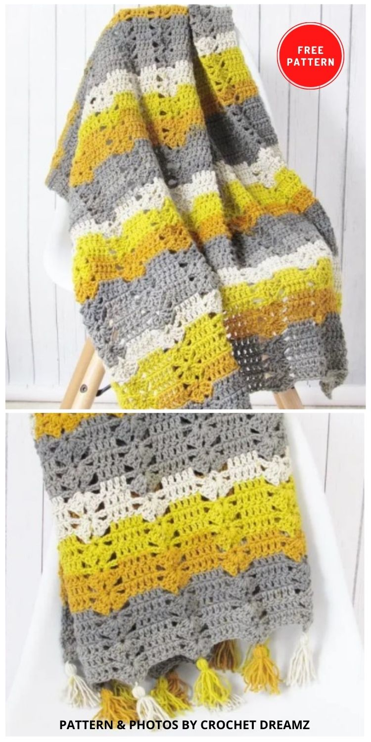 Fireplace Afghan - 9 Free Crochet Camping Blanket Patterns To Keep You Warm And Cozy