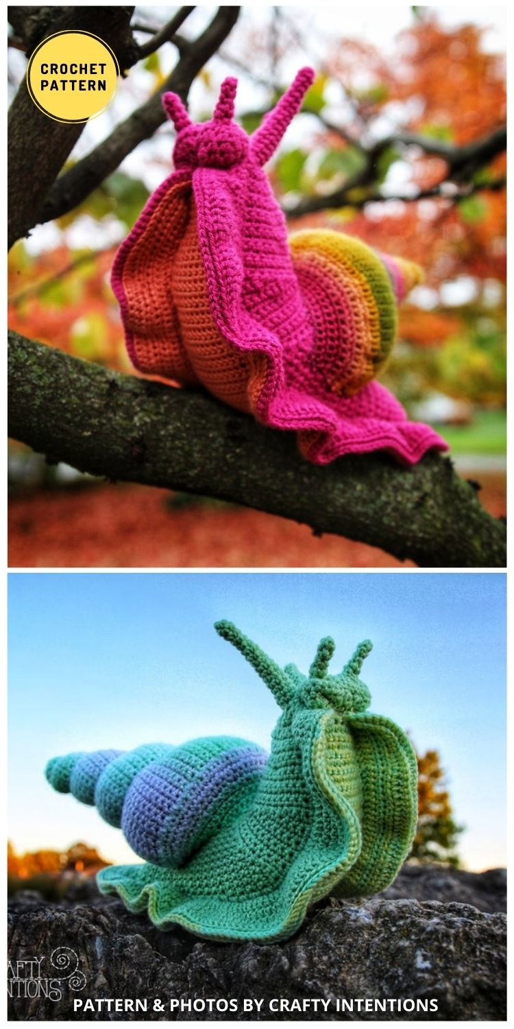 Giant Snail Amigurumi - 9 Incredible Realistic Crochet Bug, Critter And Reptile Patterns