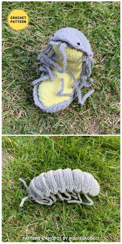 Isopod Amigurumi -9 Incredible Realistic Crochet Bug, Critter And Reptile Patterns