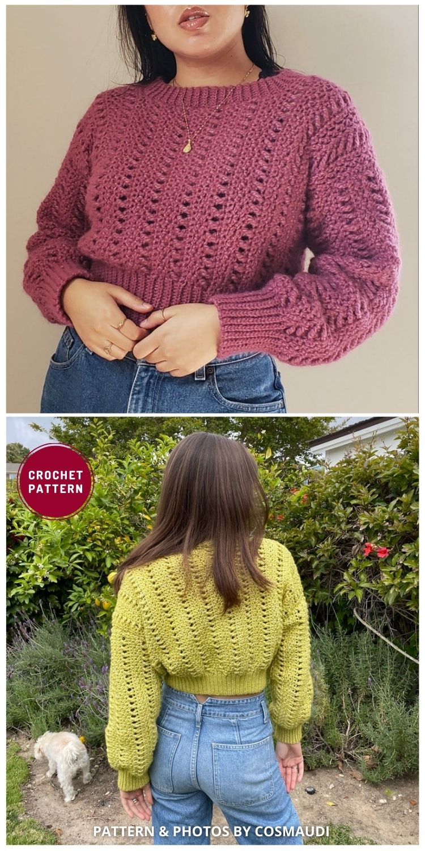 Katia Sweater - 12 Trendy Crochet Sweater Patterns For Women Ideas