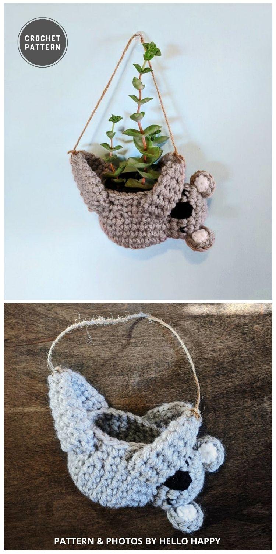 Koala Planter - 9 Most Lovable Crochet Koala Patterns For Kids