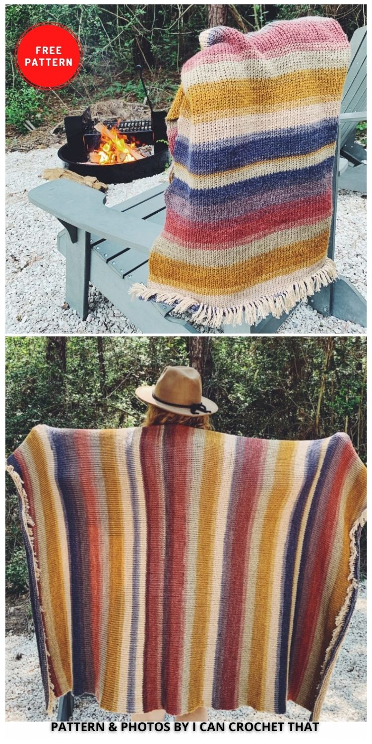 'Let's Go Camping' Crochet Blanket - 9 Free Crochet Camping Blanket Patterns To Keep You Warm And Cozy