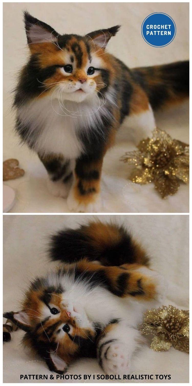 Maine Coon Kitten - Top 6 Cuddly Realistic Cat Crochet Ideas
