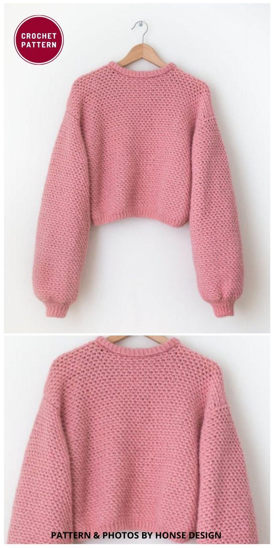 Matriarch Sweater - 12 Trendy Crochet Sweater Patterns For Women Ideas