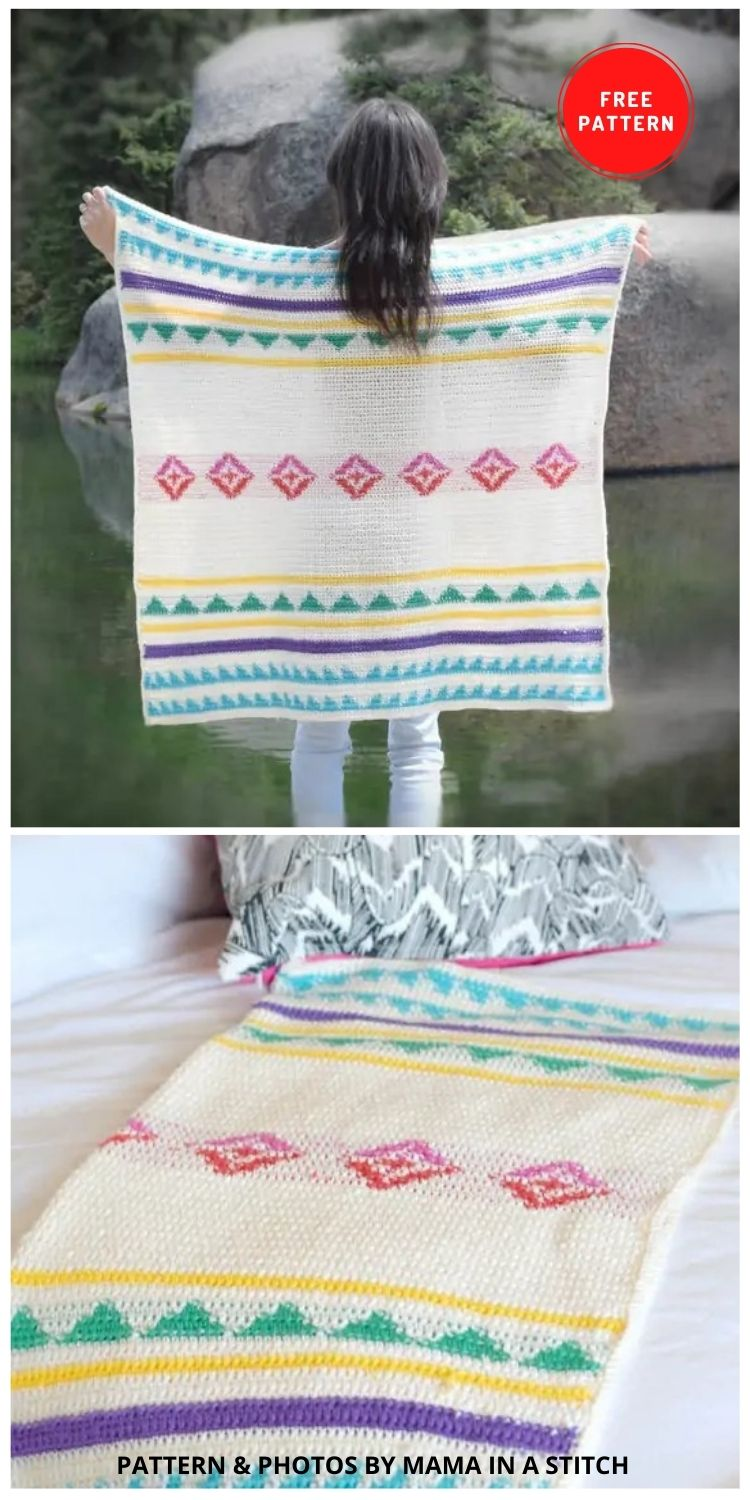 Modern Camp Crochet Blanket Pattern - 9 Free Crochet Camping Blanket Patterns To Keep You Warm And Cozy