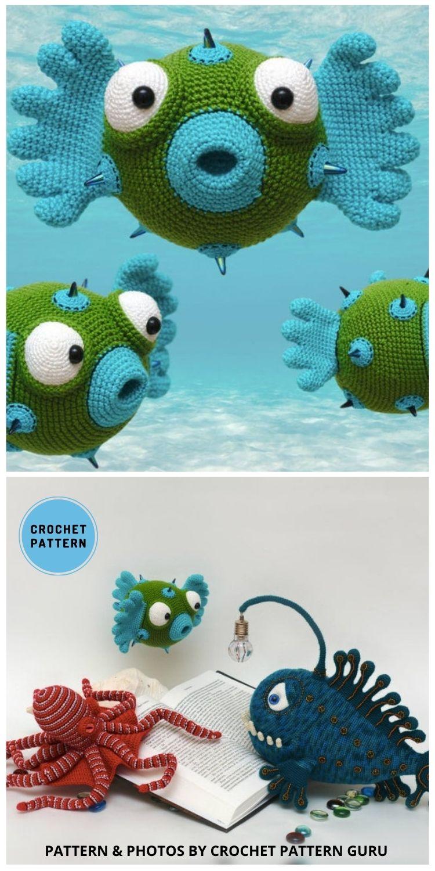 Octopus and 2 Fish Crochet Patterns - Top 4 Crochet Aquarium Ideas With Amigurumi Fish