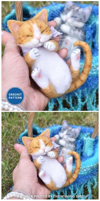 Realistic Sleeping Kitten - Top 6 Cuddly Realistic Cat Crochet Ideas