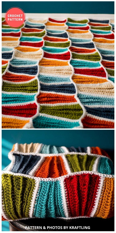 Surf City Beach Blanket - 10 Best Crochet Picnic Blanket Patterns For Family Outing