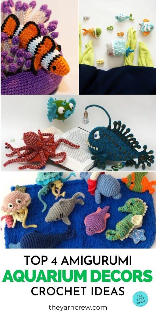 Top 4 Amigurumi Aquarium Decor Crochet Ideas PIN 3