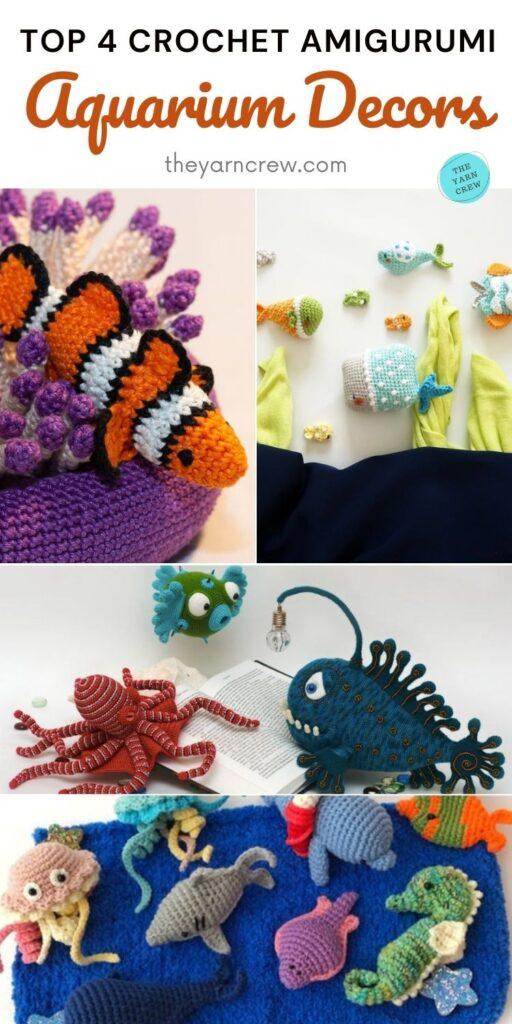 Top 4 Crochet Amigurumi Aquarium Decors PIN 2