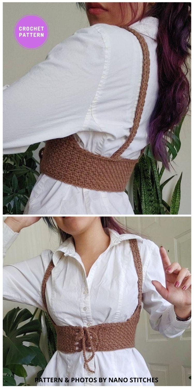 Underbust Crochet Corset - 7 Classy Crochet Corset Patterns For Women