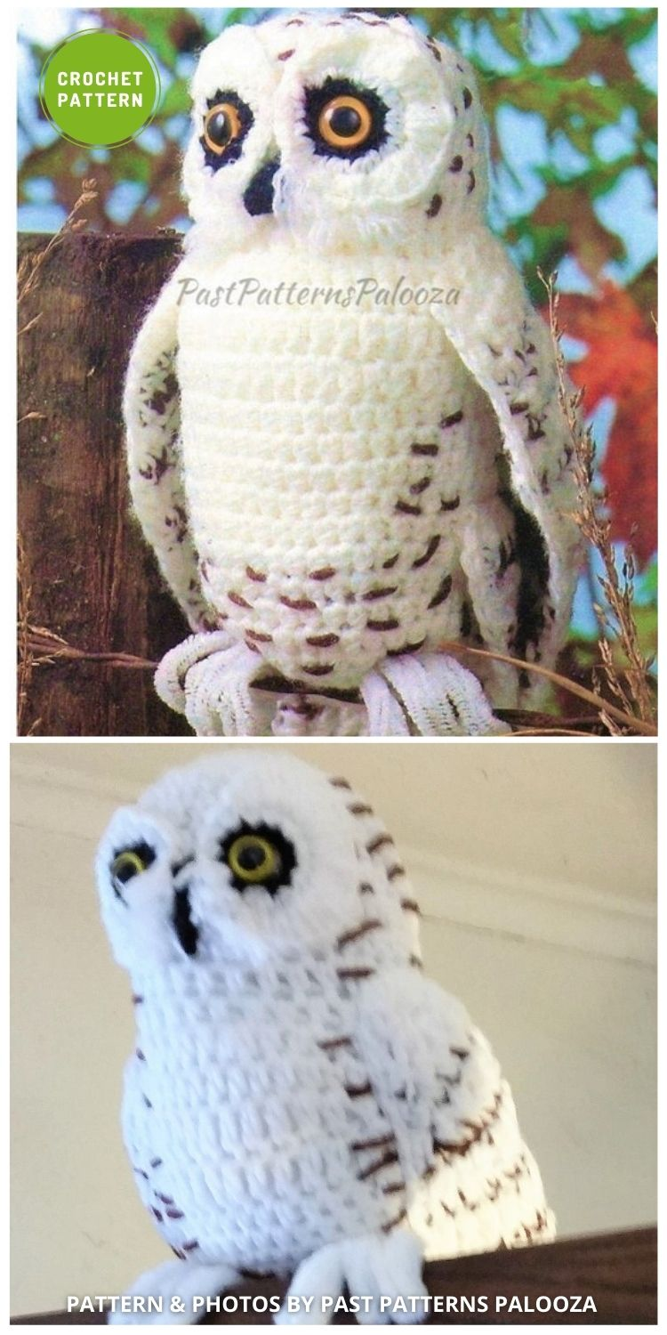 Vintage Crochet Snowy Owl - 6 Awesome Realistic Crochet Bird Patterns To Make Right Now