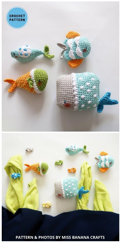 Whimsical Aquarium - Top 4 Crochet Aquarium Ideas With Amigurumi Fish