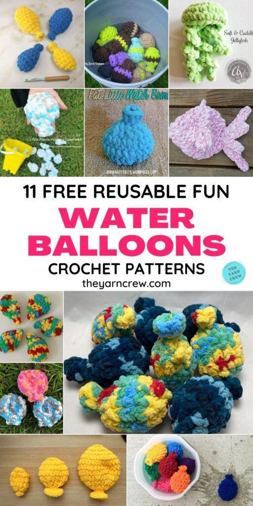 11 padrões de crochê de balão de água divertidos e reutilizáveis PIN 1