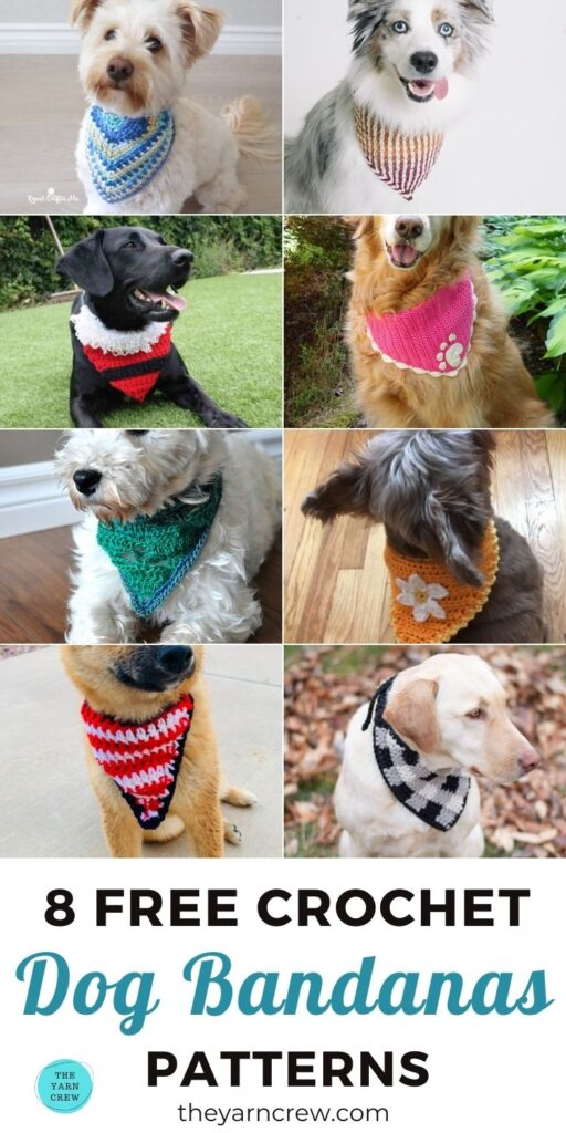 8 Free Crochet Dog Bandana Patterns PIN 3