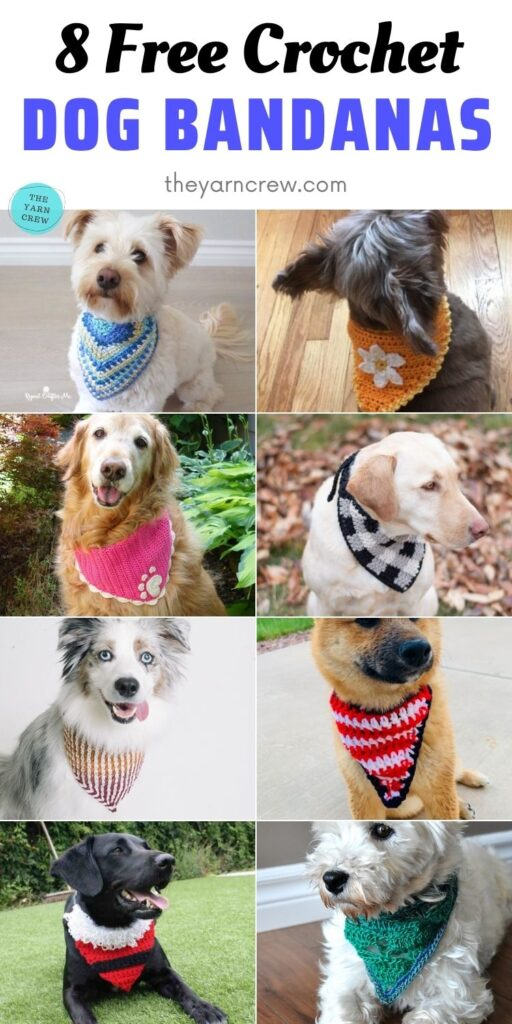 8 Free Crochet Dog Bandanas PIN 2
