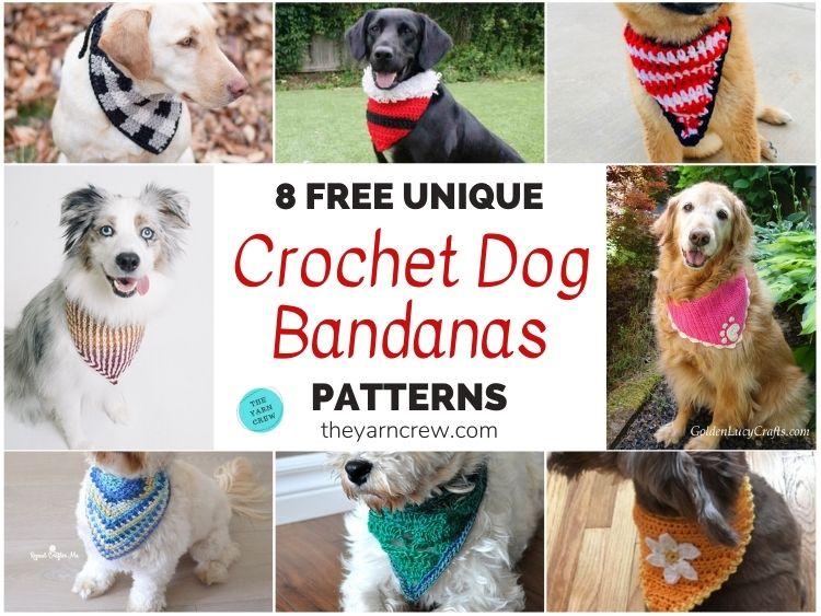 8 Free Unique Crochet Dog Bandana Patterns FB POSTER