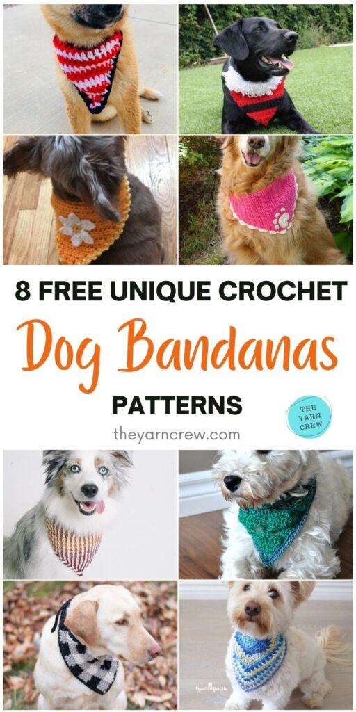 8 Free Unique Crochet Dog Bandana Patterns PIN 1