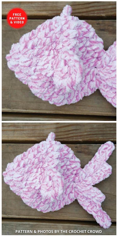 Balões de água de peixes voadores de crochê - 11 padrões de crochê de balões de água divertidos e reutilizáveis gratuitos