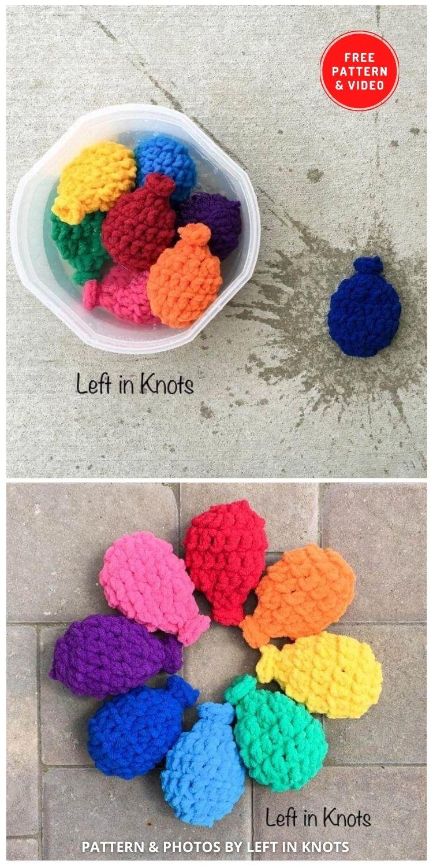 Balões de água de crochê - 11 padrões de crochê de balões de água divertidos e reutilizáveis gratuitos (2)